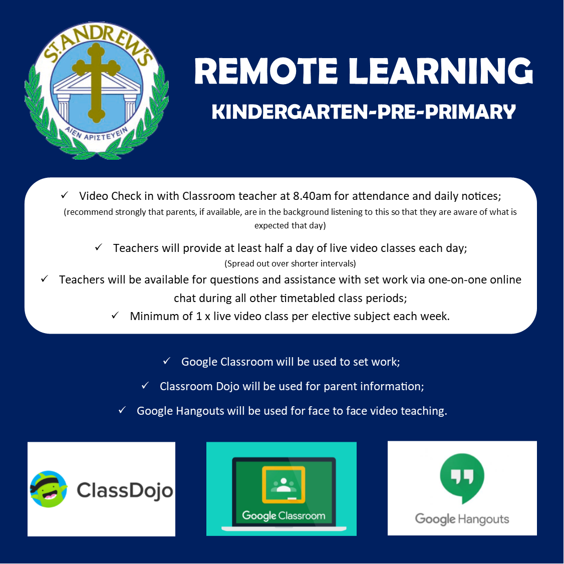 Remote Learning - KG & PP